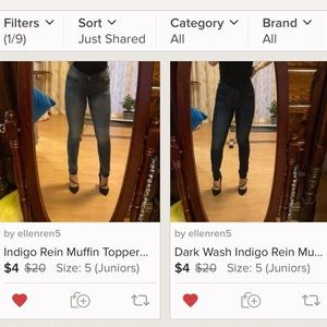 Bundle! 2 pairs of muffin topper jeans!